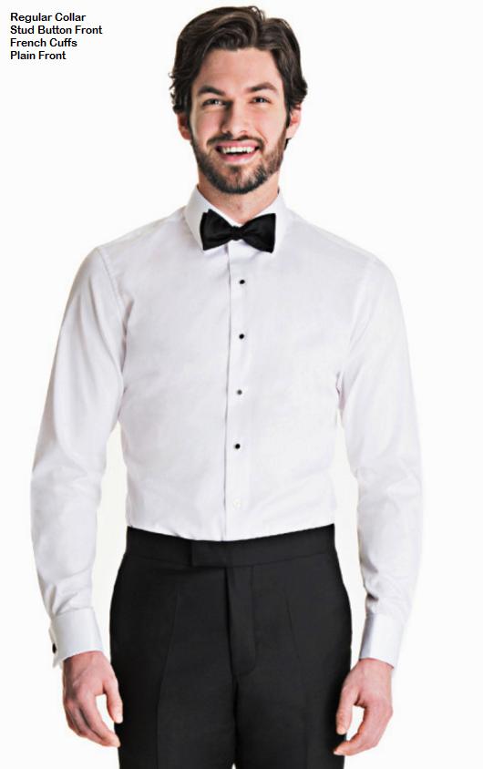 Tuxedo Shirt - Regular collar Stud Button front